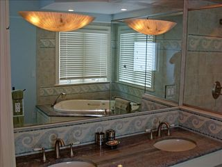 Virginia Beach house photo - Handicapped Access Master Bath w/granite, mosaic & bubble tub