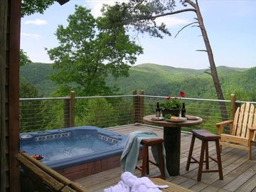 Boone cabin rental - Summer Mountain View from Deck