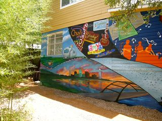 Lakeway cottage photo - Backyard Austin Mural