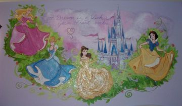 Princess Mural Princess Bedroom