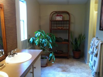 Austin area estate rental - .Main House Master Bath