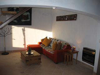 San Miguel de Allende house photo - Casita Chocolate (Upper level - Spacious!) Living Room with its heater