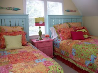 Bald Head Island cottage photo - Whimsical third bedroom with queen and twin