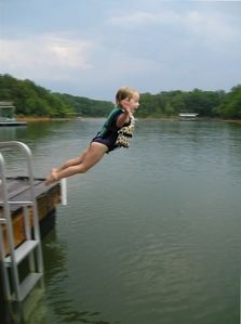 Jumping off Dock - Kid Paradise!