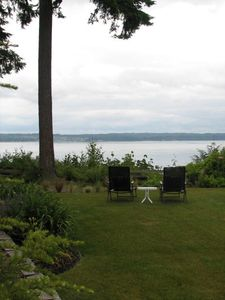 Port Ludlow house rental - Expansive view of Hood Canal; eagles & osprey; stairs to the beach