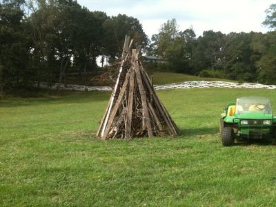 Bonfire Anyone? House on hill in background.  24 photos on the HomeAway site.