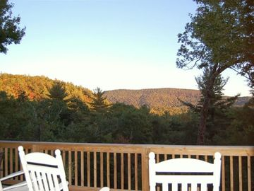 Highlands cabin rental - Big view of Whiteside Mtn & Nat'l Park. No homes will ever clutter this view.