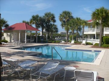 Seagrove Beach condo rental - Immaculately kept pool and surrounding grounds. Our unit, 1st floor right side.