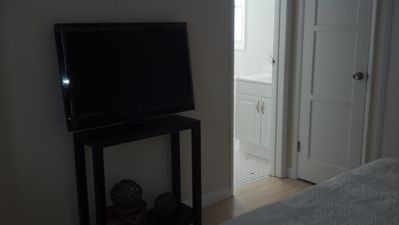 "37"" LCD HD TV with cable. Viewable from bed and couch."