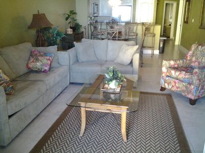 New living room furniture for a relaxing evening after a day at the beach!!