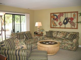 Sea Pines townhome photo - Living Room