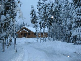 Gouldsboro cabin photo - A warm cozy cabin in a Winter Wonderland...