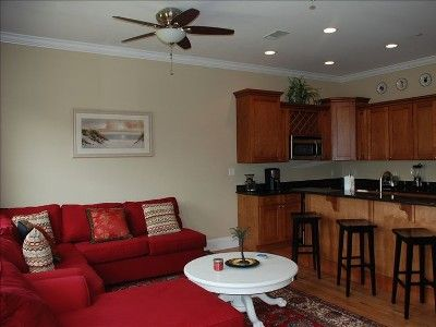 Dune Allen Beach townhome rental - All stainless kitchen! Fridge/icemaker dishwasher, stove, coffeemaker microwav