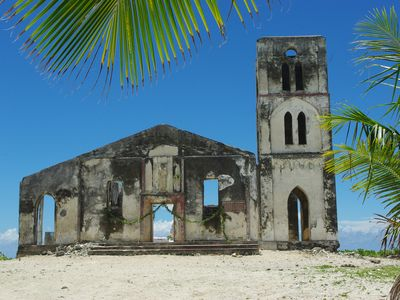 Falealupo church at the extreme west end of Savaii was destroyed in 1990 cyclone