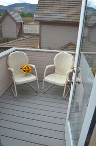 The loft deck area