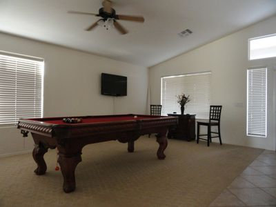 "Poolroom with 42"" flat screen tv for viewing when its not your turn"