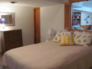 Pocasset house photo - One of two bedrooms on lower level--Queen bedroom.