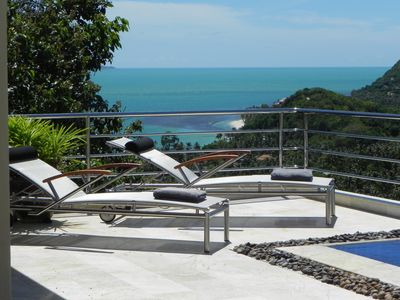 Bang Po beach villa rental - Coral View: view to the sea
