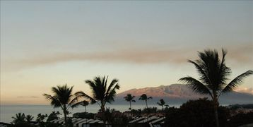 Sunrise on west Maui mountains - seen from main lanai