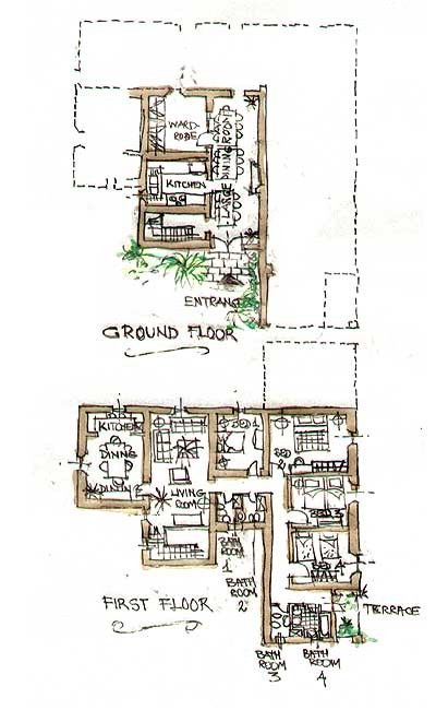 La Collinaccia First Floor, floor plan