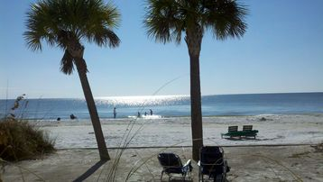 What a view! Set your beach chair up on the seawall or the waters edge and enjoy