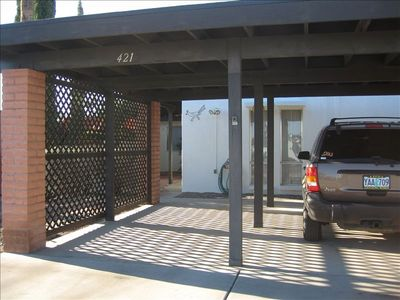 Covered Car port for two cars