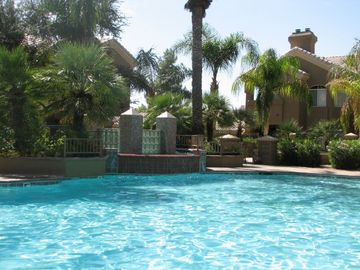 Scottsdale North condo rental - Beautiful heated pool with cascading waterfall.