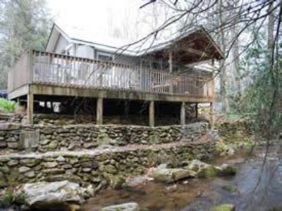 Cottage sits right on the creek