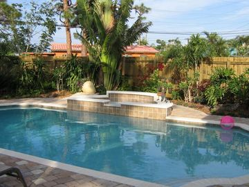 Fort Lauderdale house rental - Wonderful Private Pool and beautiful gardens