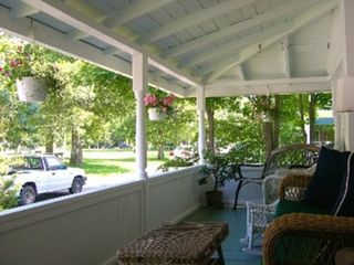 Oak Bluffs house photo - Front Porch Overlooking Hartford Park