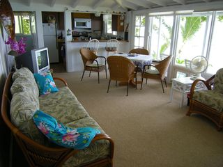Haleiwa house photo - Living room with ocean view
