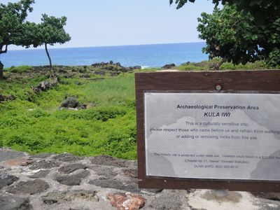 Preserved site. There are many sites like these around the island.