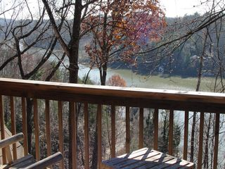 Lake Lure cabin photo - View from upstairs private deck near loft and master bedroom.