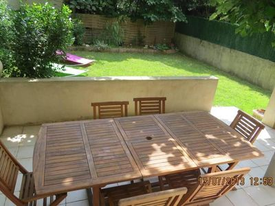 Apartment with private garden fully closed