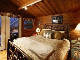 Aspen house photo - Second bedroom suite with walk-out deck
