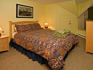 Whistler townhome photo - Comfortable master bedroom includes a LCD HD TV w/cordless phone.
