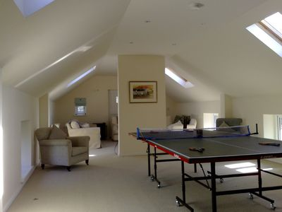 Upstairs games room