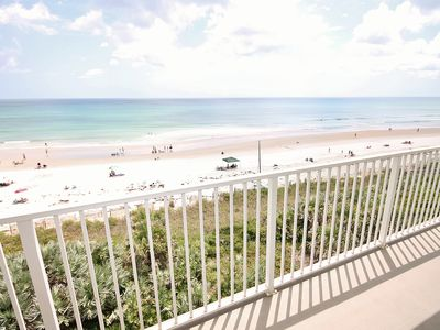 Balcony view of New Smyrna Beach is spectacular.