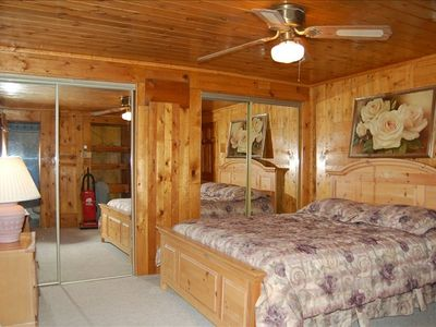 Master bedroom with Queen Bed, has a full bathroom too.