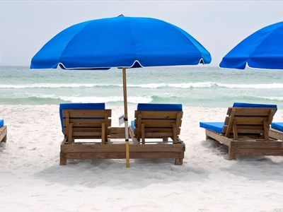 Beach Chairs - one set of 2 chairs and umbrella is included FREE!