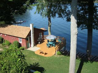 White Cloud cottage photo - EAGLE'S NEST IS THE CLOSEST CABIN TO WATER IN WEST MICHIGAN. UP/ DOWN STAIRS FUN