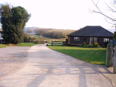 Farm track leading to Cart Shed