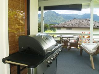 Princeville house photo - BBQ on Lanai