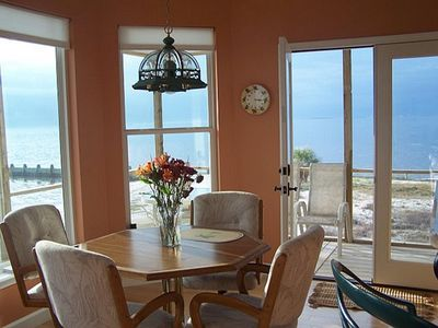 The breakfast nook.