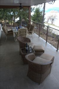 Covered Deck with 180 Degree views of Shuswap Lake