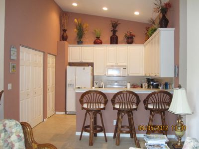 Boynton Beach condo rental - .Kitchen has dishwasher and compactor. Closet to the left has washer and dryer.