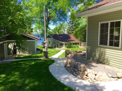 Totally remodeled Family Compound with Pontoon on BeautifulLake Darling