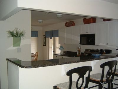Eat-in Kitchen with New Granite Countertops