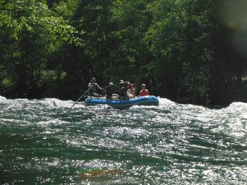 Our raft trips include some fun rapids, plus gentle meanders; fabulous views!