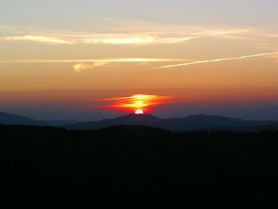 Sunset over Beech Mountain (not from house)